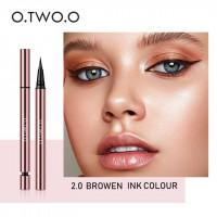 Подводка для глаз O.TWO.O Ink Color waterproof eyeliner pen (арт 1008) №2.0 Brown