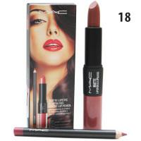 Блеск- Помада- Карандаш 3в1 M.A.C. Matte Lipstic & Lipgloss Matte Lip Pencil  #18