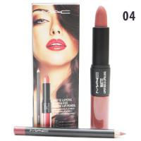 Блеск- Помада- Карандаш 3в1 M.A.C. Matte Lipstic & Lipgloss Matte Lip Pencil  #4